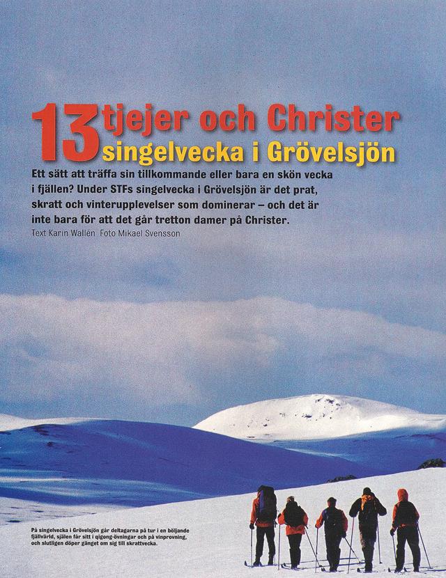 13 tjejer och Christer – singelvecka i Grövelsjön
