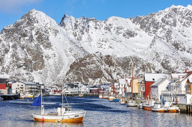 Henningsvaer, Nordland, Lofoten, Norge