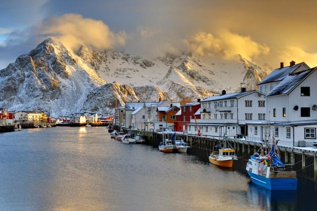 Henningsvaer, Lofoten, Norge