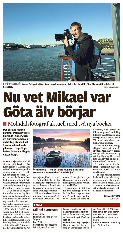 Nu vet Mikael var Göta älv börjar