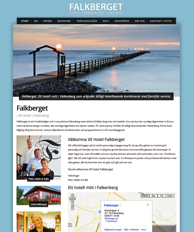 Hotel Falkberget, Falkenberg