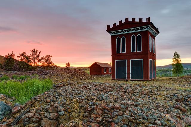 Koppargruvan i Falun, Dalarna.