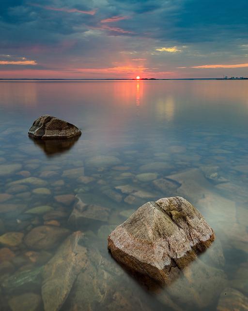 Solnedgång vid Hammarö sydspets, Hammarö kommun