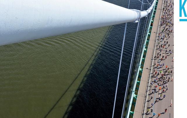 Göteborgsvarvet sett från Älvsborgsbron