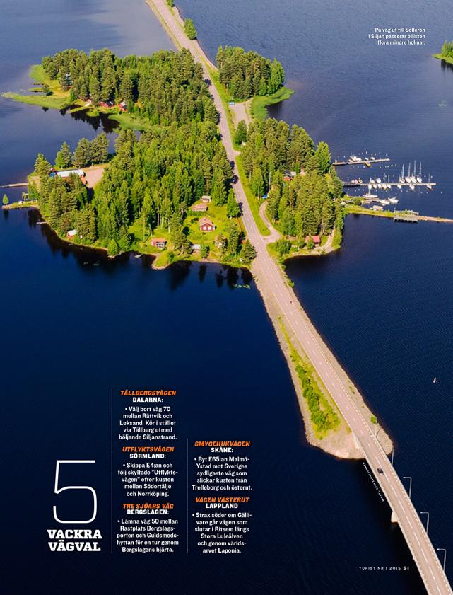 5 vackra vägval i tidningen Turist