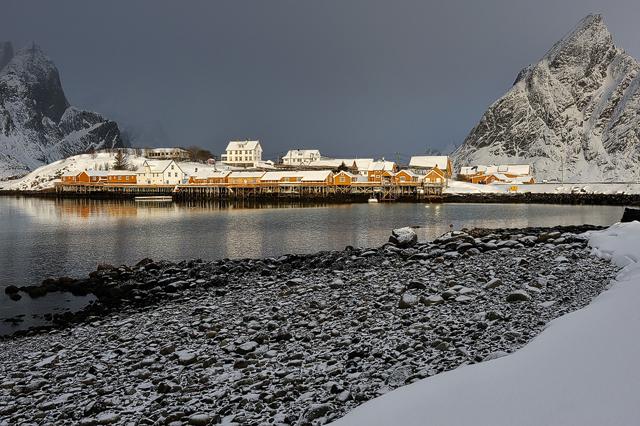 Sakrisøy, Lofoten, Nordland, Norge.