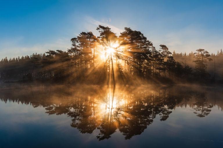 Soluppgång vid Stendammen