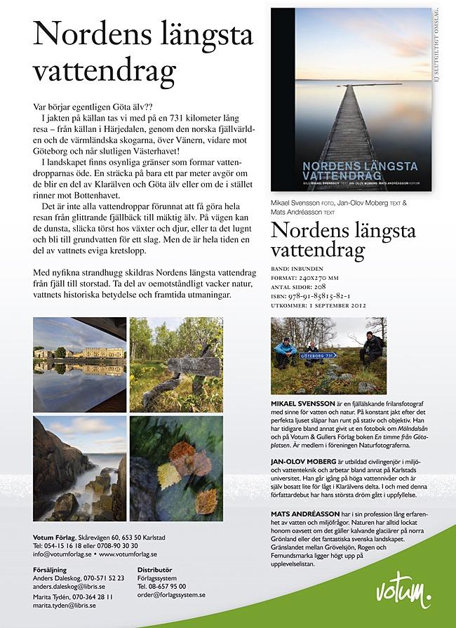 Säljblad för Nordens längsta vattendrag