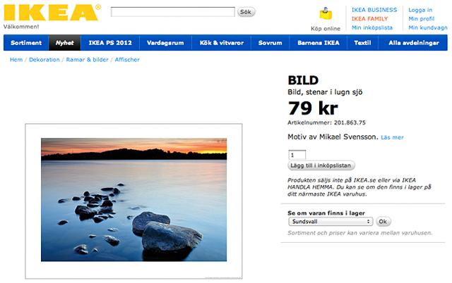 IKEA – stenar i lugn sjö