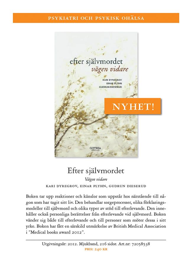 """Omslagsbild till boken """"Efter självmordet -Vägen vidare""""."""