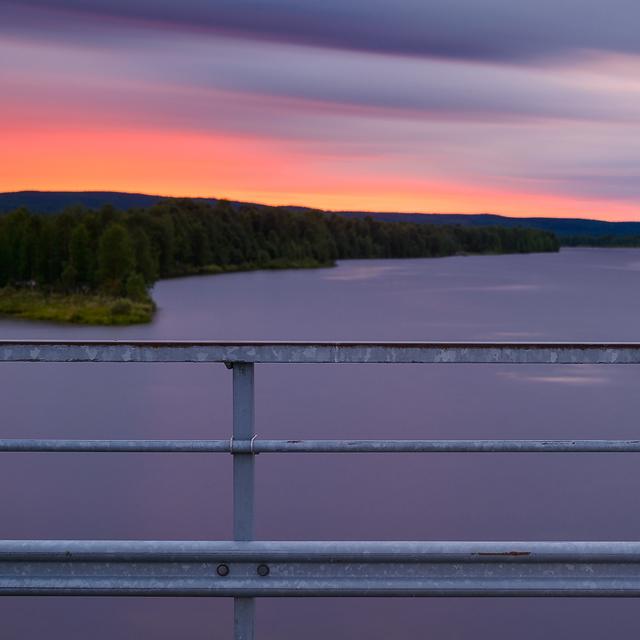 Bron mellan Norra och Södra Bredåker, Luleälv, Norrbotten.