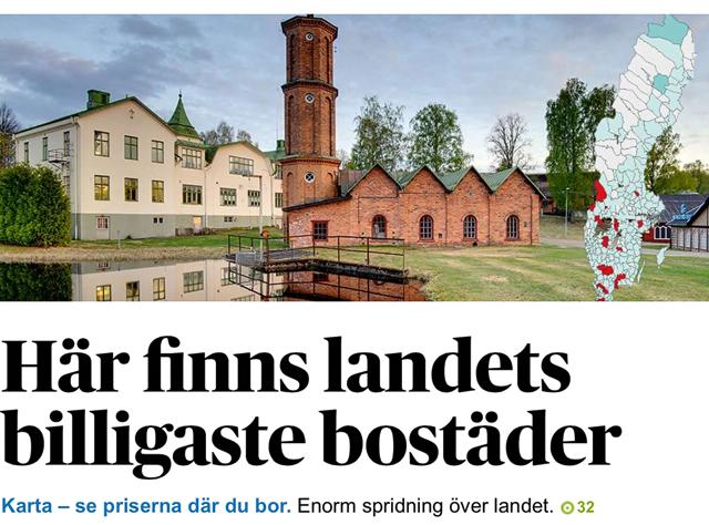 Här finns landets billigaste bostäder. Foto: Mikael Svensson