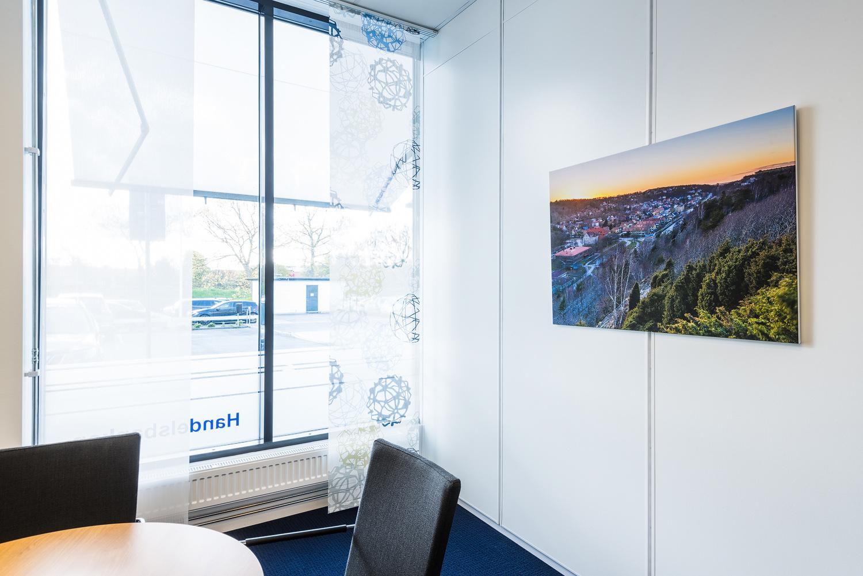 Utsmyckning av Handelsbanken Mölndal. Foto: Mikael Svensson, www.mikaelsvensson.com