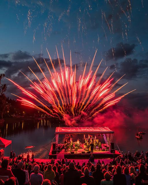 Musik på vattnet, Rådasjön, Mölndal. Foto: Mikael Svensson