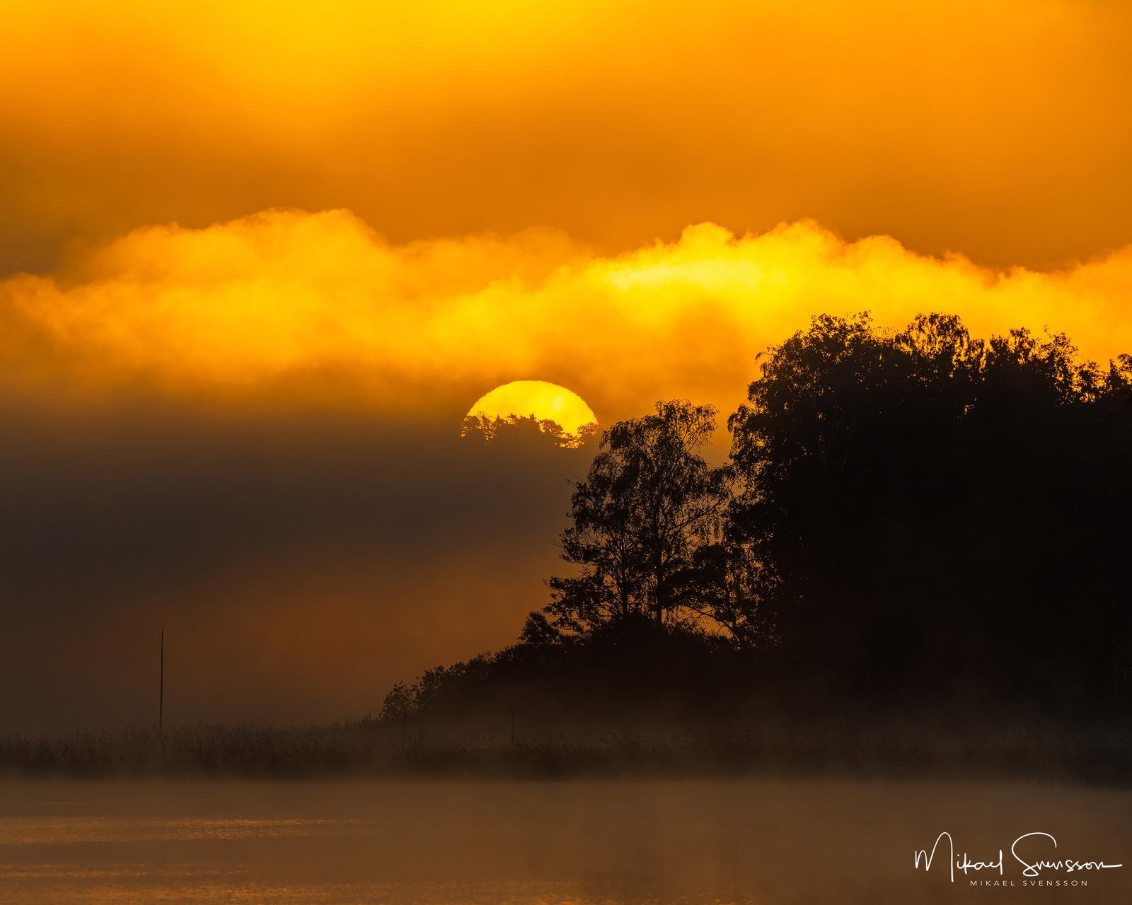 Soluppgång vid Rådasjön