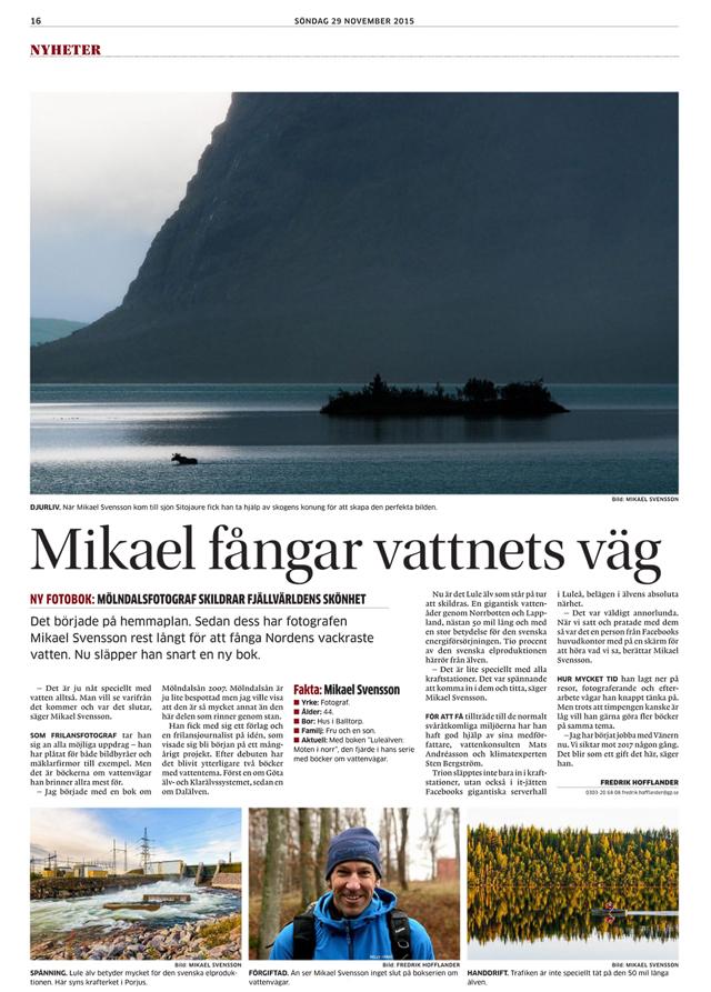 Mikael Svensson fångar vattnets väg