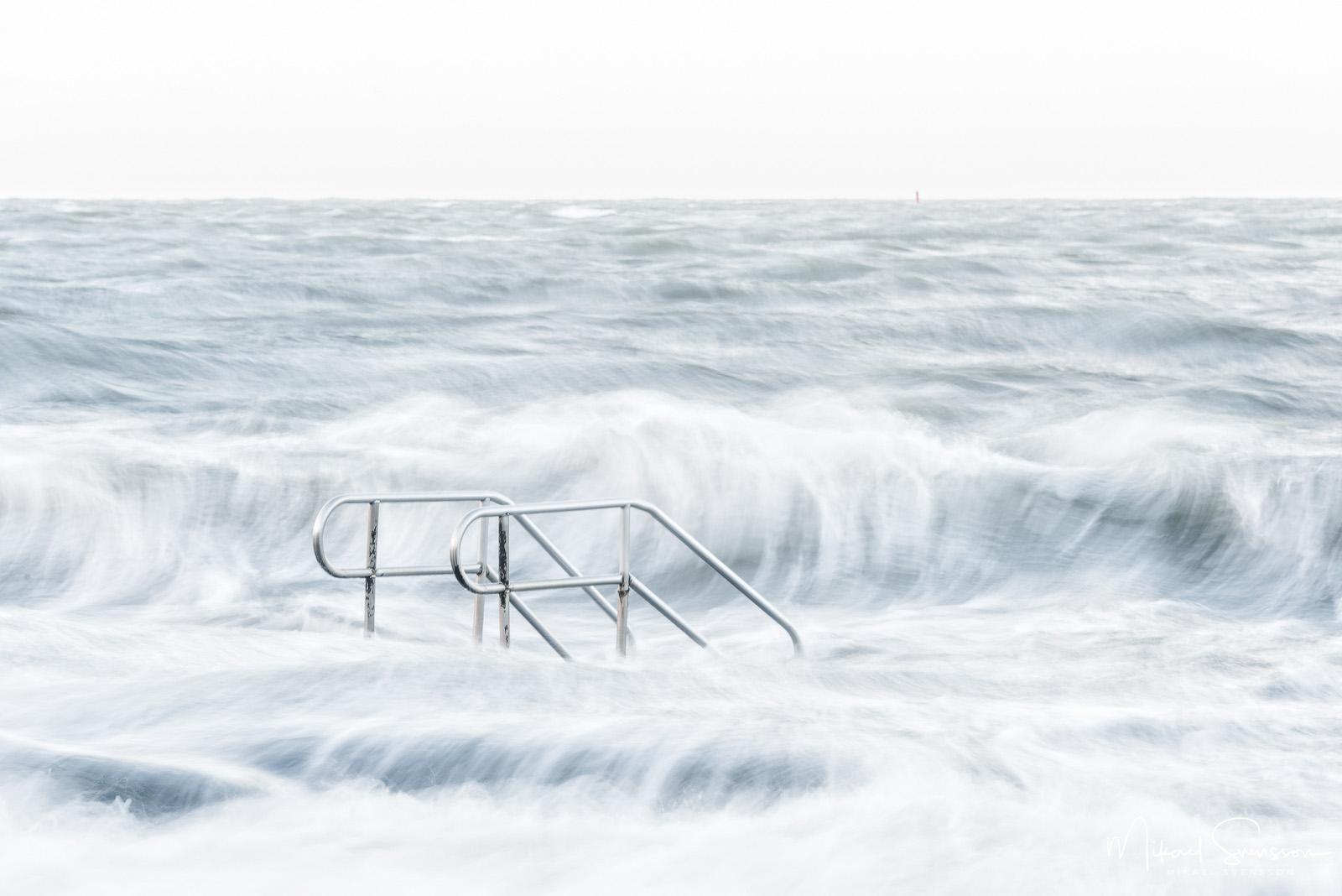 Efterdyningar av stormen Gorm.