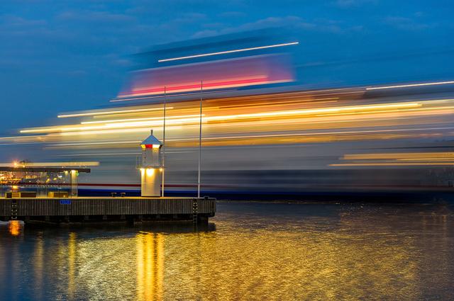 Stena Line passerar vid Eriksberg, Göteborg. Foto: Mikael Svensson