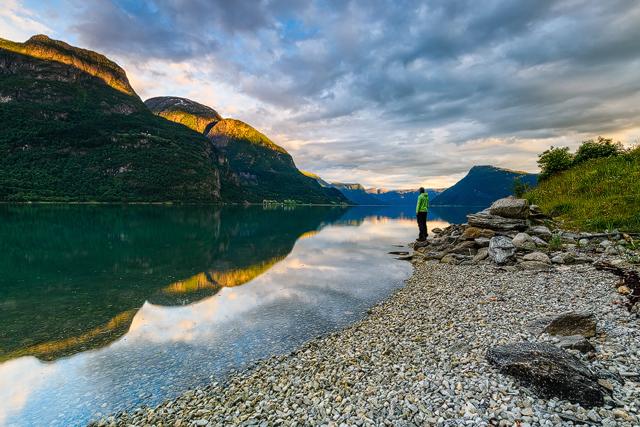 Lustrafjorden, Sogn og Fjordane, Norge.