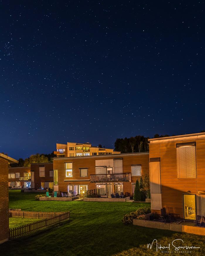 Stjärnhimmel vid Balltorp. Foto: Mikael Svensson