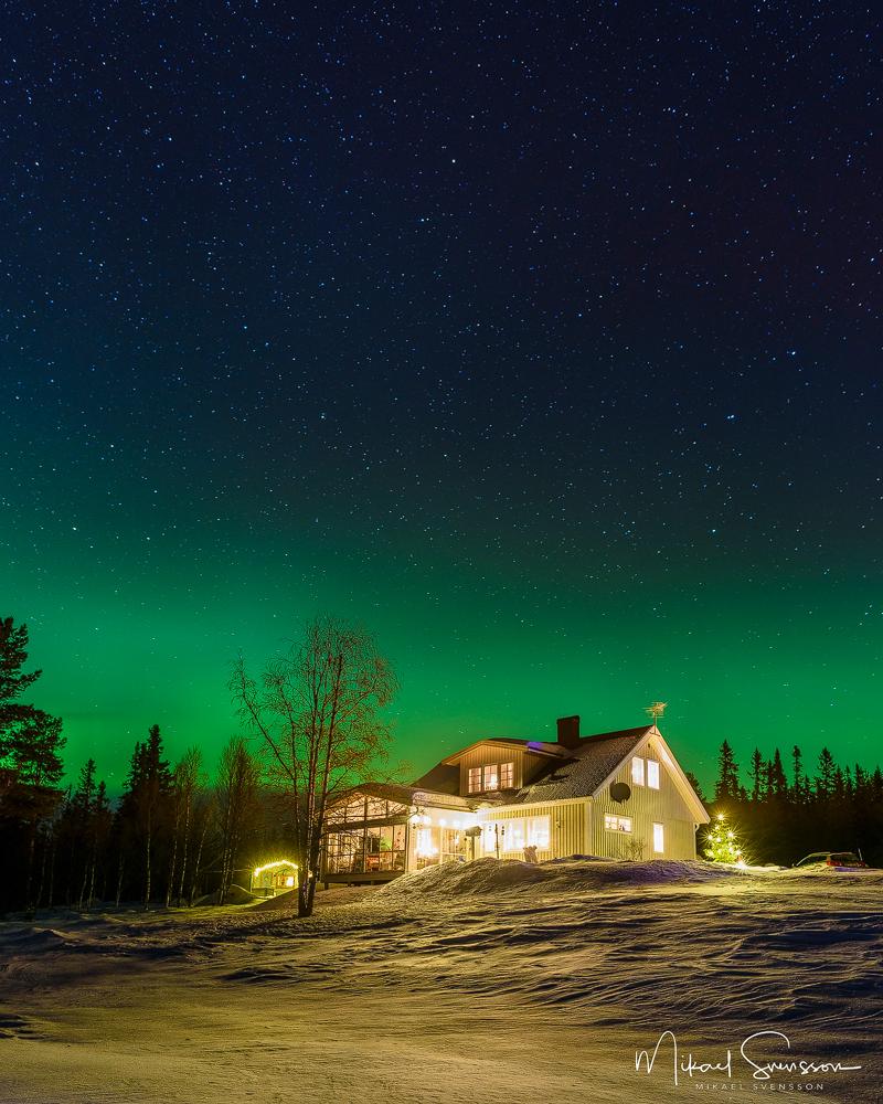 Norrsken vid Huskläppen, Dalarna. Foto: Mikael Svensson
