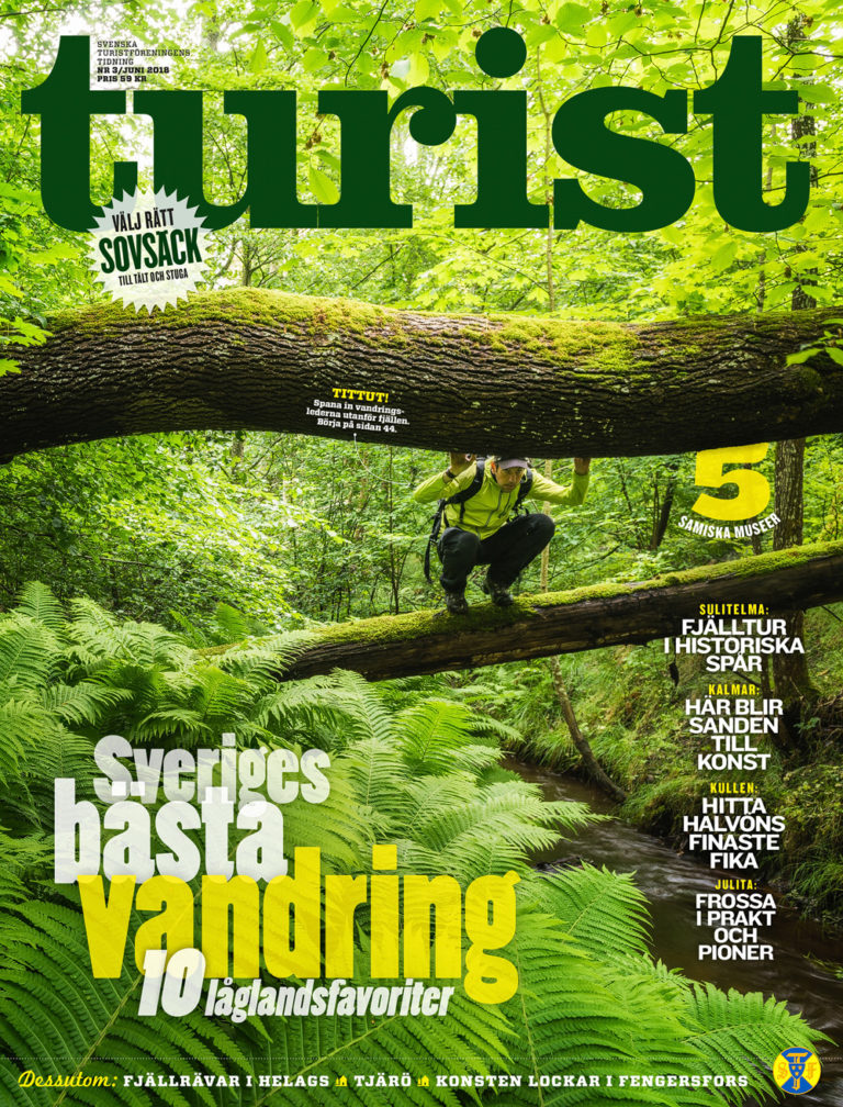 Omslag i tidningen Turist. Nr 3 / 2018. Foto: Mikael Svensson, www.mikaelsvensson.com