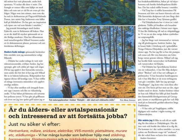 Här - där stad och vildmark möts. Örgryte - Härlandaposten 2018-05