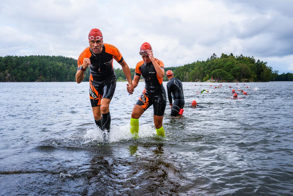 Skatås Sjöar, Swimruntävling i Delsjöområdet. Delsjön - där stad och vildmark möts