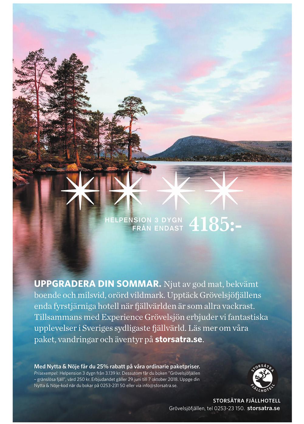Annons i GP för Storsätra Fjällhotell