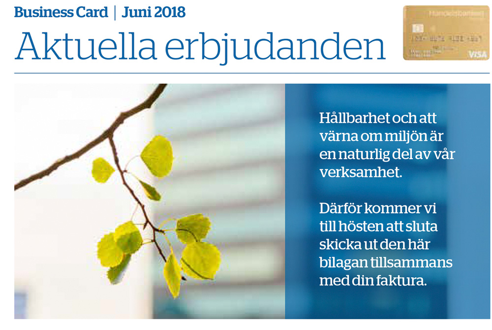 Handelsbanken Business Card - aktuella erbjudanden. Foto: Mikael Svensson, www.mikaelsvensson.com