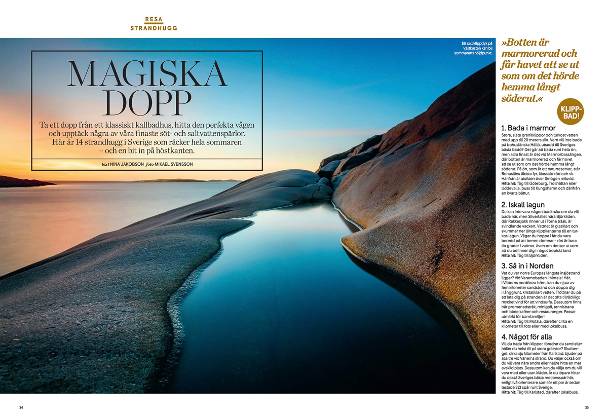 Bild från Hållö i tidningen Kupé. Foto: Mikael Svensson, www.mikaelsvensson.com