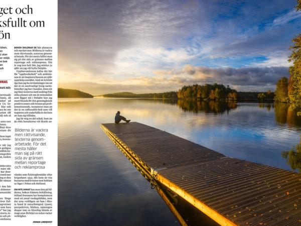 Recension av boken Delsjön där stad och vildmark möts i GP, 15 juli 2018.