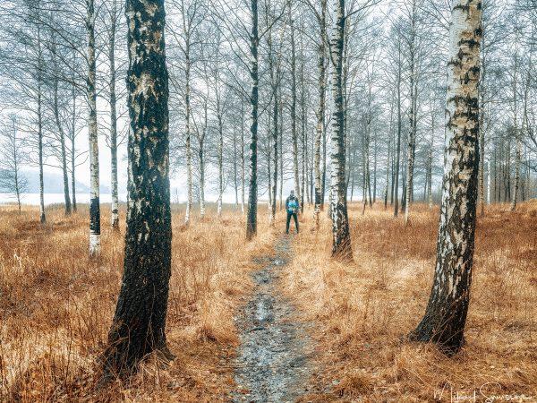Självporträtt vid Landvetter. Foto: Mikael Svensson