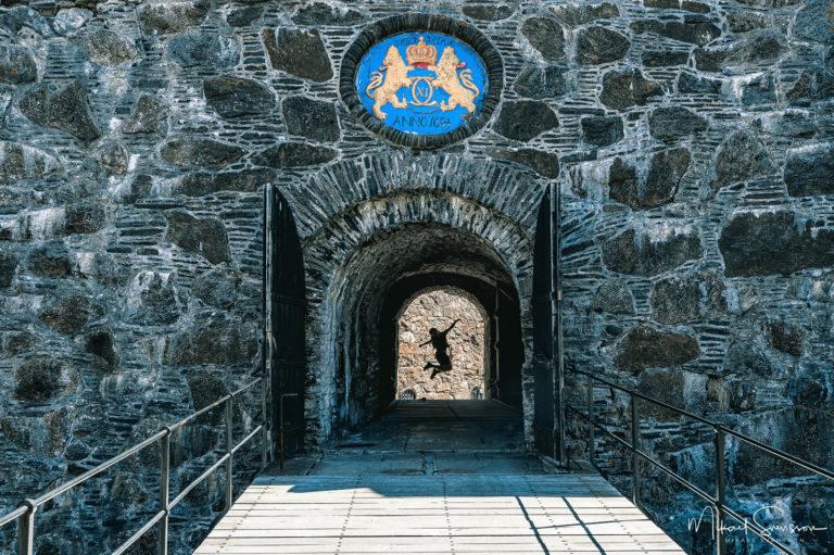 Hopp vid Carlstens fästning, Marstrand, Sweden.