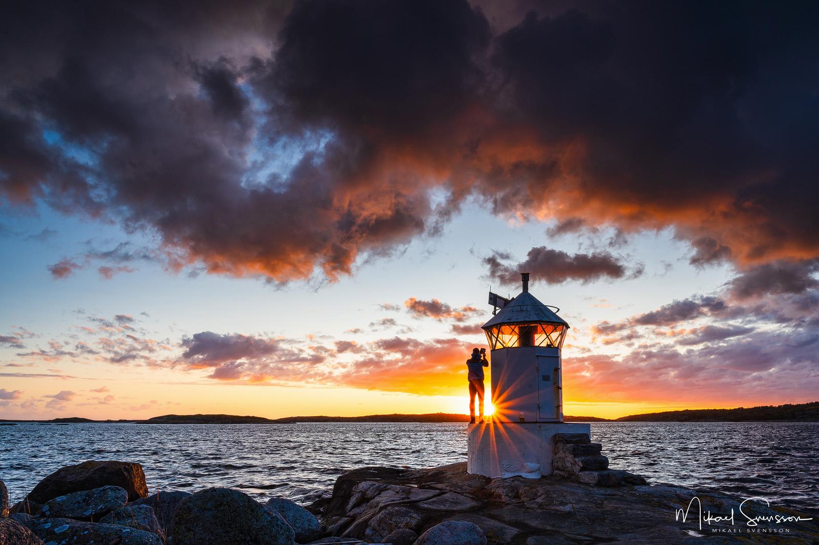 Solnedgång vid Vässingsö, Onsala.