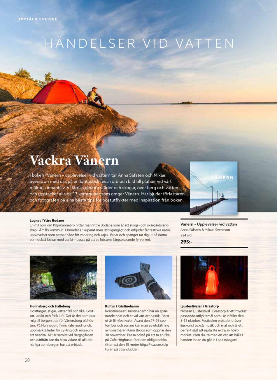 Vänern i Blick magasin, Votum förlags nya kundmagasin.