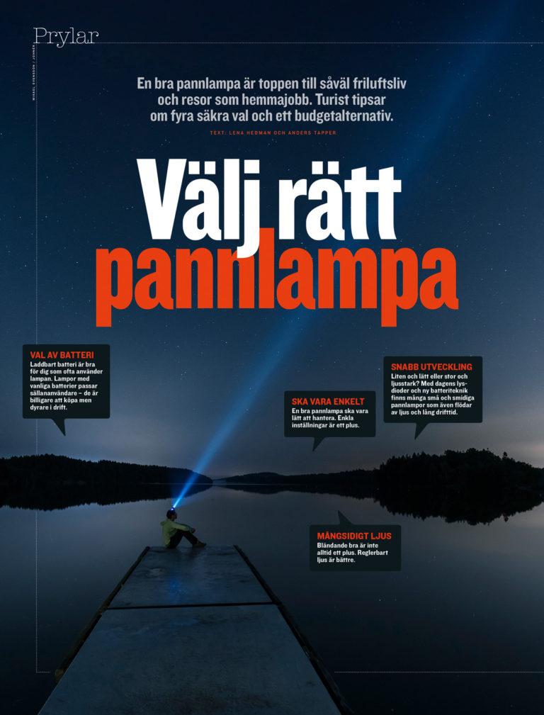 Bild i senaste numret av tidningen Turist. Stora Delsjön, Göteborg.