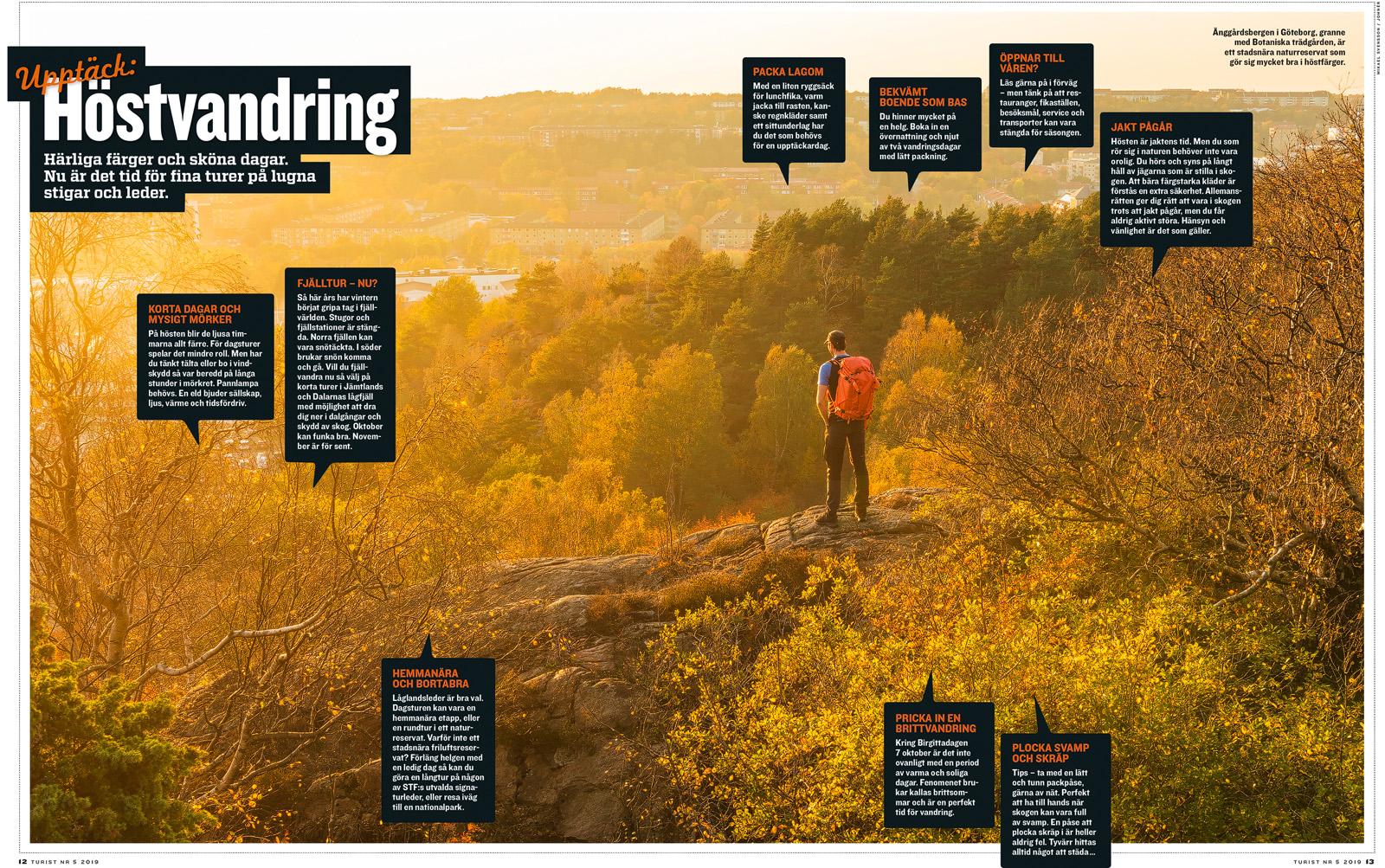 Bild i senaste numret av Turist. Änggårdsbergen, Göteborg.