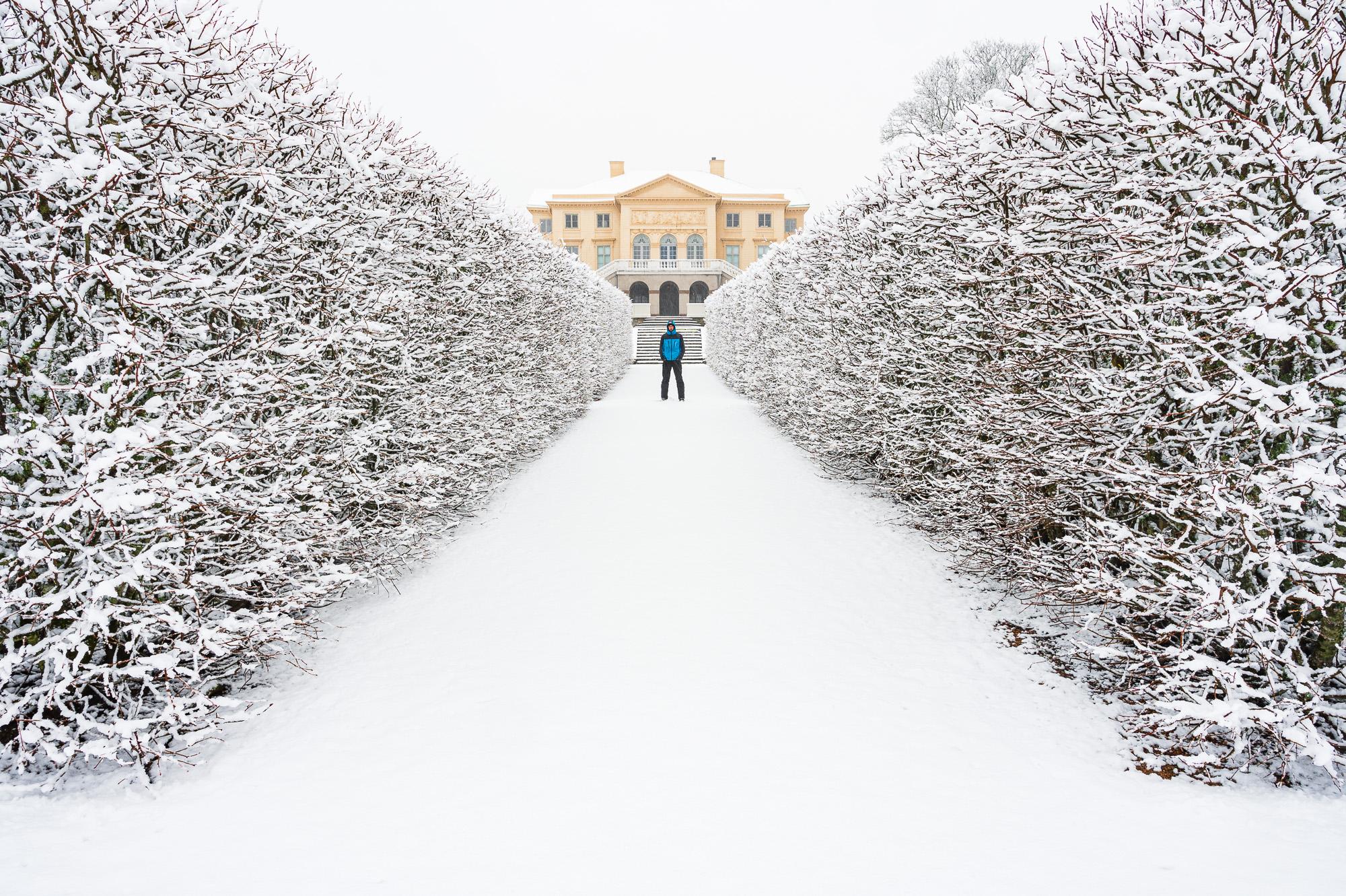 Vinter vid Gunnebo Slott