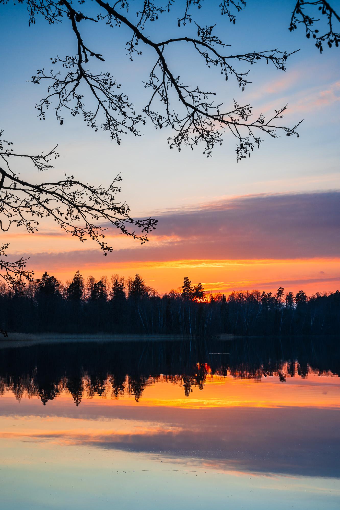Solnedgång vid Ören, Göteborg.