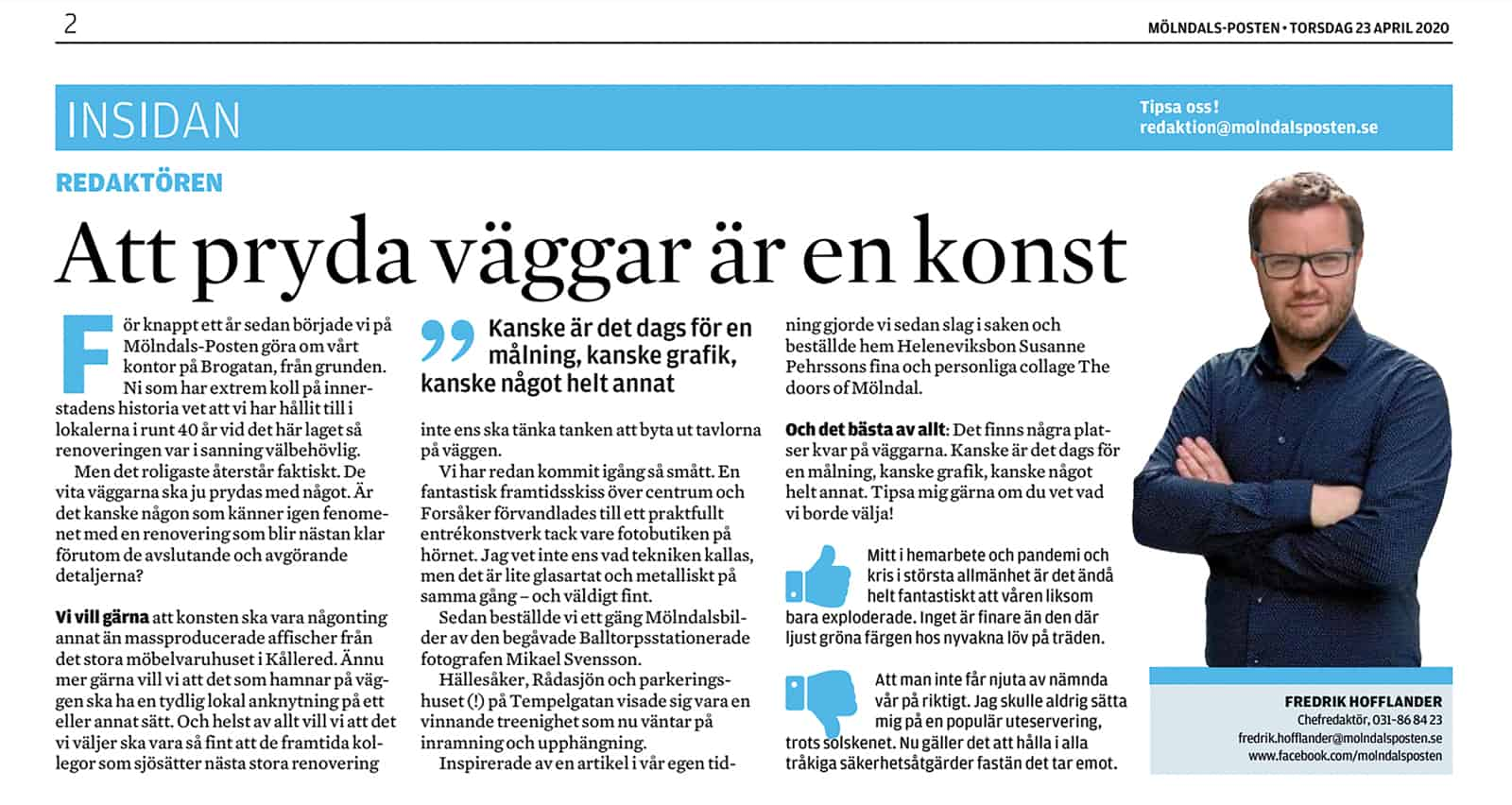 Mölndals-Posten 23 april 2020