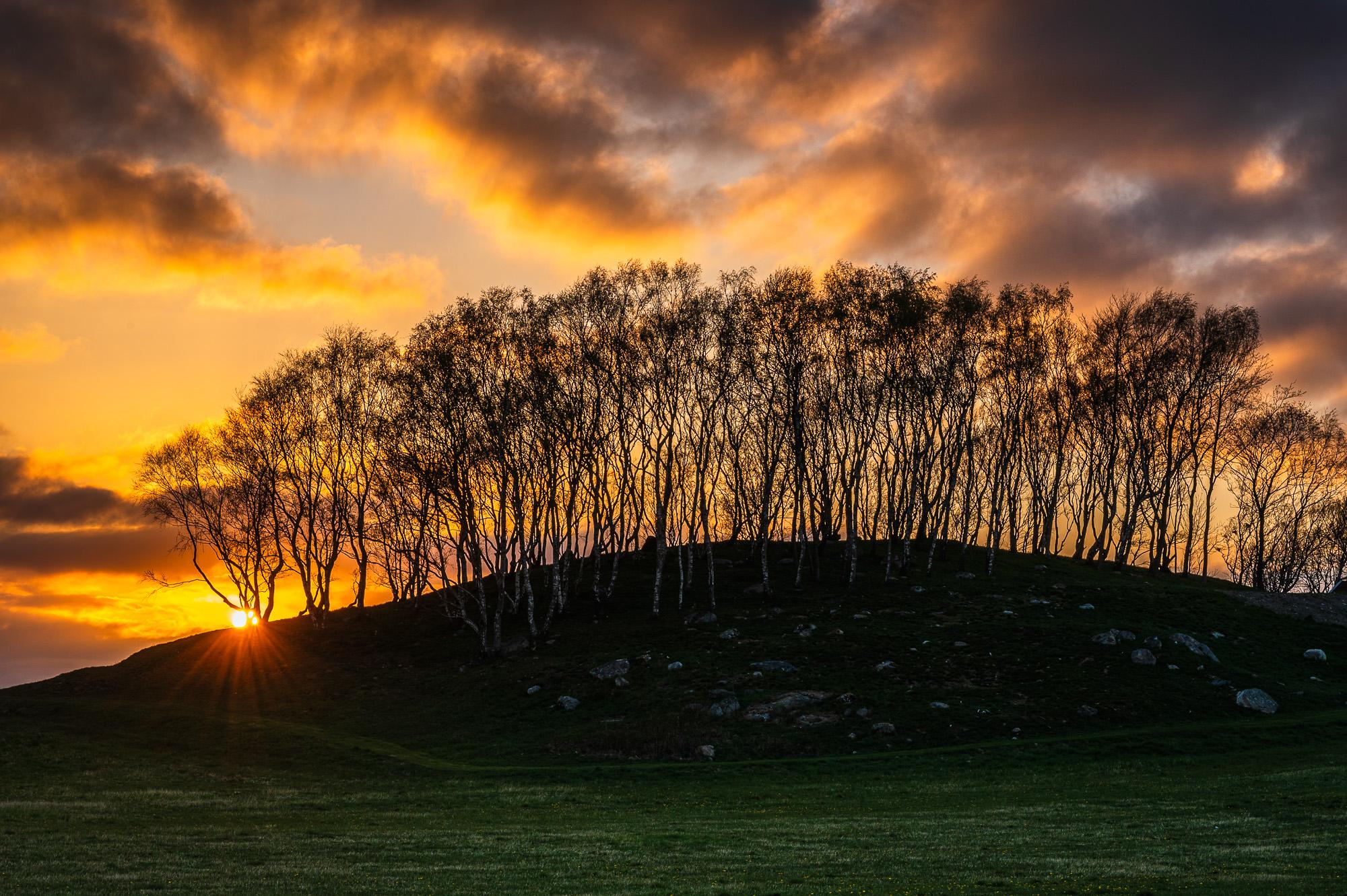 Solnedgång vid Eklanda, Mölndal.