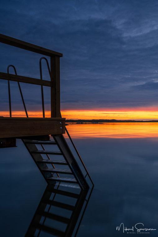 Solnedgång vid Lilleby, Torslanda