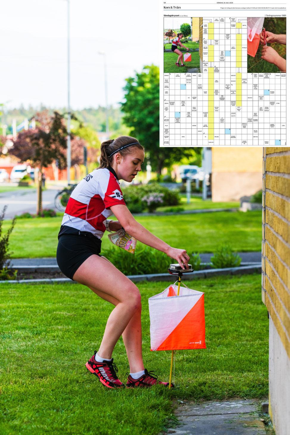 I söndagens GP var en av mina orienteringsbilder från sprint-DM ifjol med i söndagskrysset.