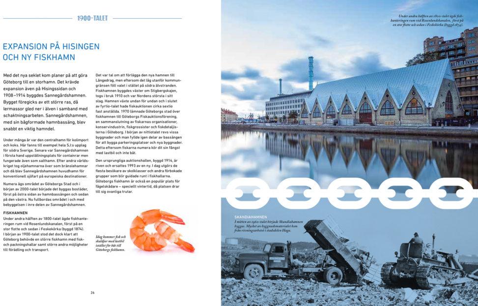 Bild i jubileumsboken om Göteborgs hamn