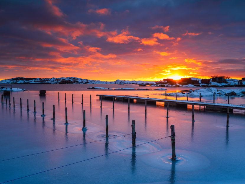 Solnedgång vid Stensholmen, Göteborg