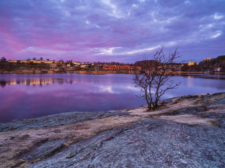 Soluppgång vid Stensjön, Mölndal