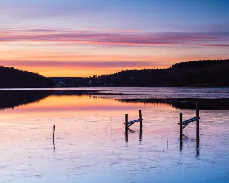 Gryning vid Rådasjön, Mölndal.