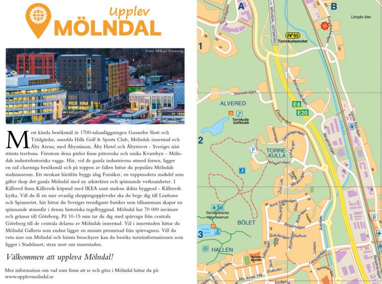 Karta över Mölndal