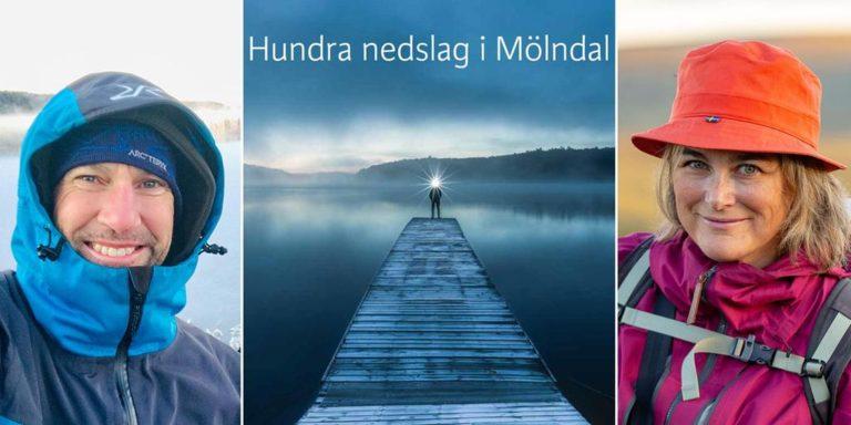 Mikael Svensson och Kristina Svensson jobbar med boken Hundra nedslag i Mölndal. Bild: Mikael Svensson